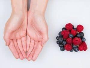 hand fruit